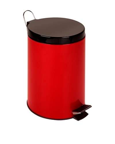 Honey-Can-Do 12L Step Trash Can, Red