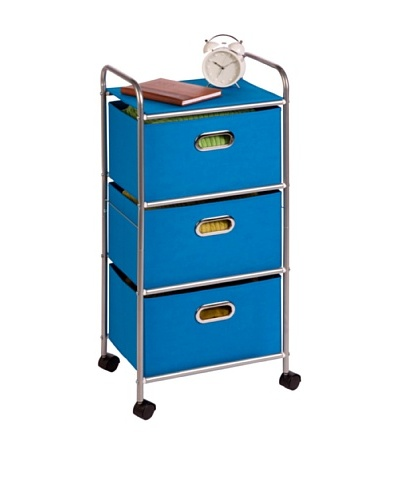 Honey-Can-Do 3 Drawer Rolling Cart, Pink
