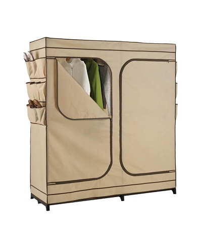 Honey-Can-Do Double Door Storage Closet with Shoe Organizer
