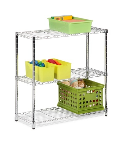 Honey-Can-Do 3-Tier Shelving Holds 200-Pound Per Shelf, 48-Inch, Steel Frame