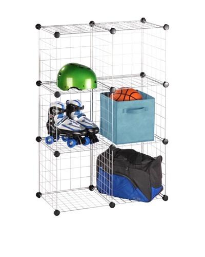 Honey-Can-Do 6 Pack Modular Mesh Storage Cubes, White