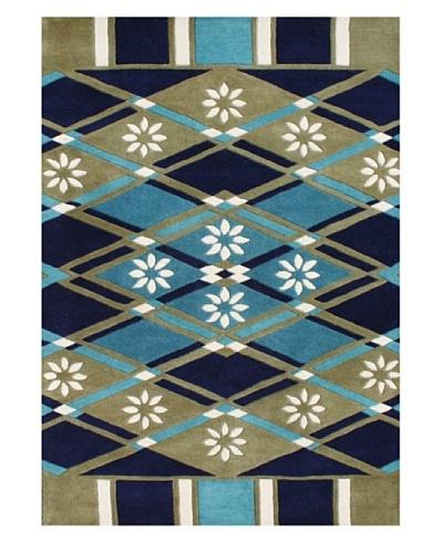 Horizon Alliyah Collection Geo Rug [Green/Blue/Smoke Multi]