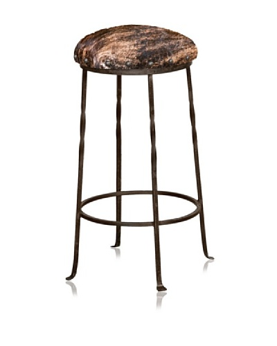 Horizon Furniture Iron Base Cowhide Bartsool, 24