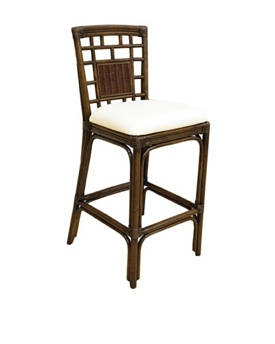 Hospitality Rattan Padre Island Rattan & Wicker Barstool With Cushion
