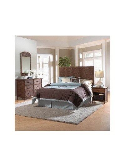 Hospitality Rattan Padre Island 4-Piece Fully Woven Bedroom Set