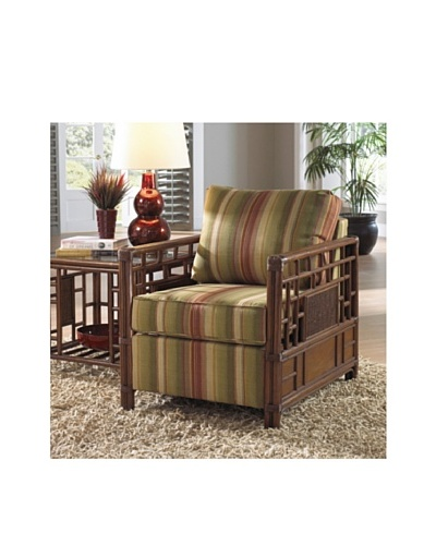 Hospitality Rattan Padre Island Upholstered Rattan & Wicker Lounge Chair