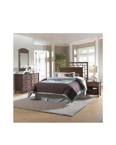 Hospitality Rattan Padre Island 4-Piece Open Square Bedroom Set