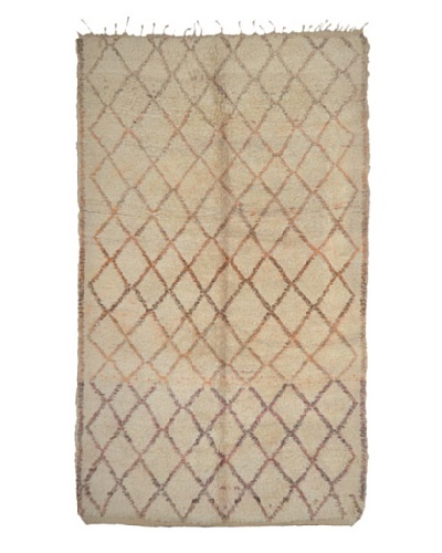 Hotel Marrakeche One of a Kind Hand Knotted Moroccan Rug, Natural, 10' 6 x 6'