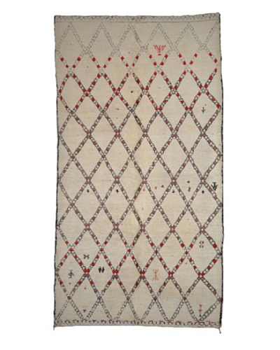 Hotel Marrakeche One of a Kind Hand Knotted Moroccan Rug, Natural, 6' x 11'