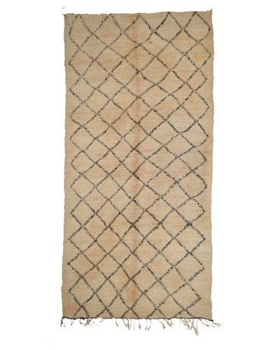 Hotel Marrakeche One of a Kind Hand Knotted Moroccan Rug, Natural, 6' x 13' 6'