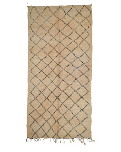"Hotel Marrakeche One of a Kind Hand Knotted Moroccan Rug, Natural, 6' x 13' 6""'"
