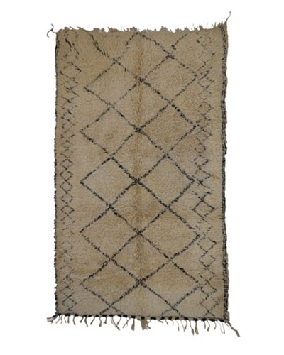Hotel Marrakeche One of a Kind Hand Knotted Moroccan Rug, Natural, 6' 6' x 12'