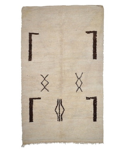 Hotel Marrakeche One of a Kind Hand Knotted Moroccan Rug, Natural, 5' x 8' 6
