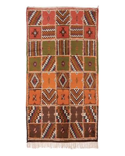 Hotel Marrakeche One of a Kind Hand Knotted Moroccan Rug, Red/Blue/Orange, 3' 9 x 7'' 5