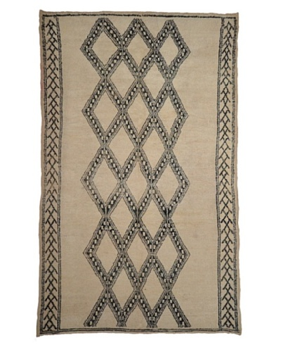 Hotel Marrakeche One of a Kind Hand Knotted Moroccan Rug, Natural, 6' x 9'