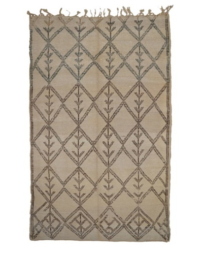 Hotel Marrakeche One of a Kind Hand Knotted Moroccan Rug, Natural, 5' 5 x 9' 6