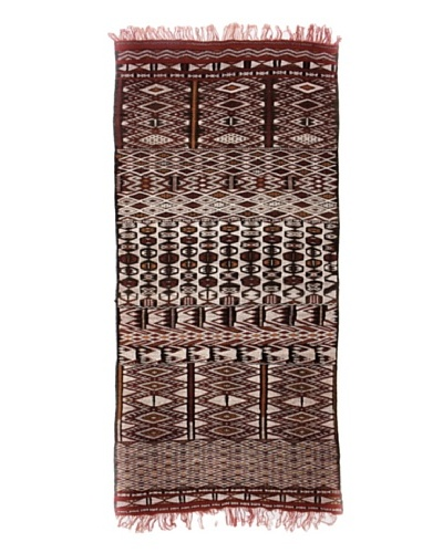Hotel Marrakeche One of a Kind Hand Knotted Moroccan Rug, Red/Brown/Crème, 5' 2 x 11' 9
