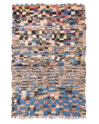 Hotel Marrakeche One of a Kind Hand Knotted Moroccan Rug, Multi, 4'2x 6'7