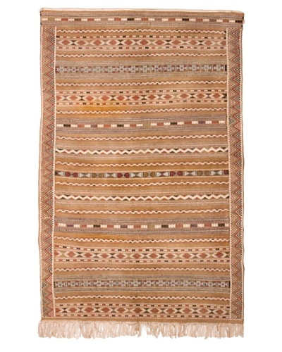 "Hotel Marrakeche One of a Kind Hand Knotted Moroccan Rug, Crème/Brown, 4' 1"" x 7' 10"""