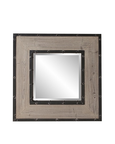 Howard Elliott Collection Chatham Square Mirror, Natural Wood