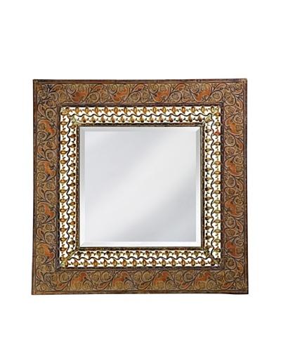 Nashville Mirror, Antique Rust/Verde