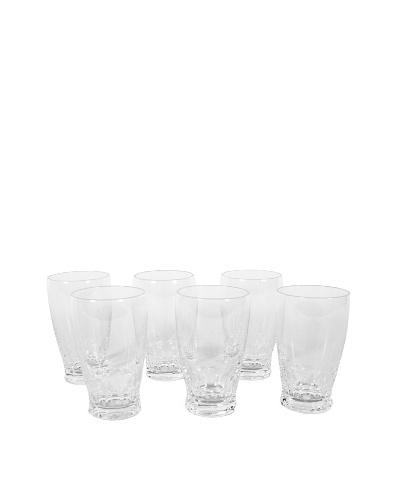 Vintage Set of 6 St. Lambert Crystal Water Glasses, Clear