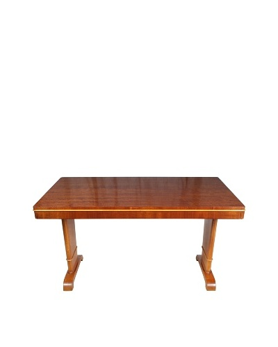 Mid-Century Swedish Table, Brown/Blonde
