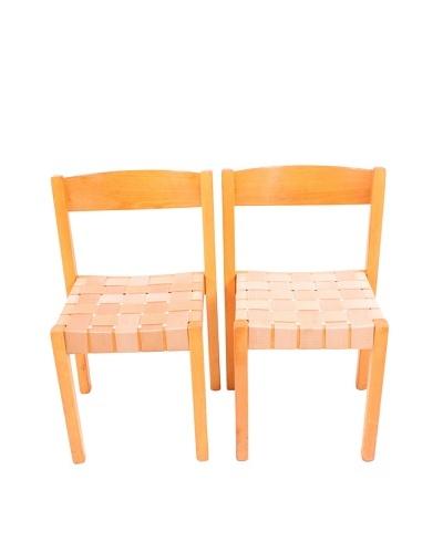 Vintage Pair of S-312 Series Balzar Beskow Chairs, Brown