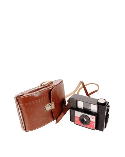 Vintage Indo Aptika Camera & Case, Brown