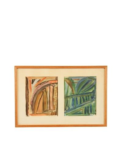 Fall & Summer Abstract Framed Artwork