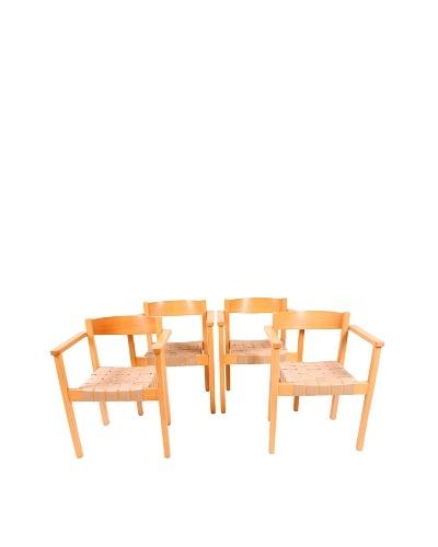 Vintage Set of 4 KS-312 Series Balzar Beskow Arm Chairs, Brown