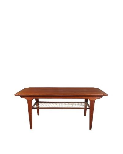 Vintage Danish Teak & Rope Coffee Table, Brown