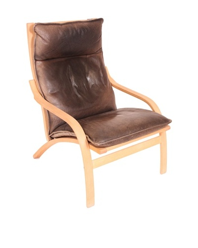Mogens Hansen Leather Chair, Brown/Blonde