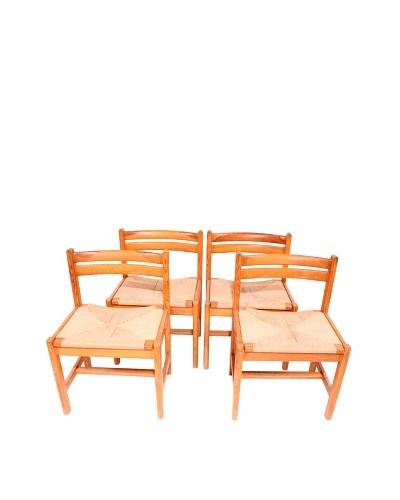 Vintage Set of 4 Karl Andersson Chairs, Brown