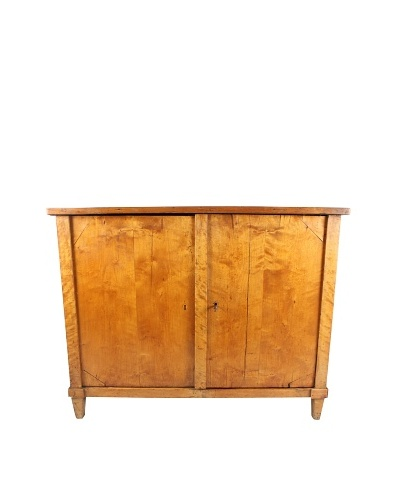 Antique Empire Style Birch Cabinet, Brown, c. 1870's