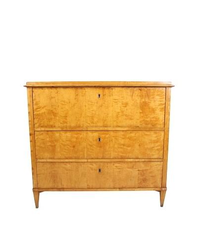 19th-C. Antique Birch Secretary Desk, Tan