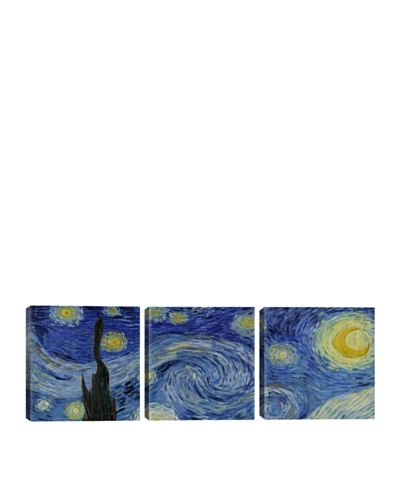 iCanvasArt Vincent Van Gogh: The Starry Night Panoramic Giclée Triptych
