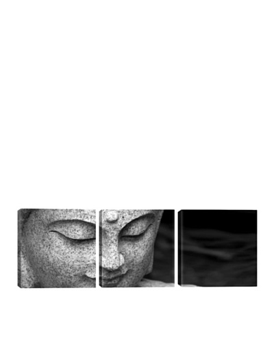 iCanvasArt Chinese Buddha Panoramic Giclée Triptych