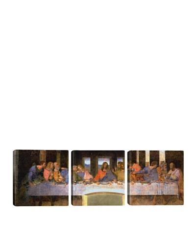 iCanvasArt Leonardo Da Vinci: The Last Supper Panoramic Giclée Triptych