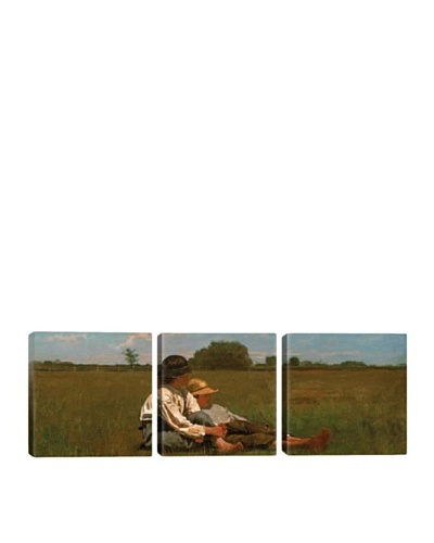 iCanvasArt Winslow Homer: Boys In a Pasture Panoramic Giclée Triptych
