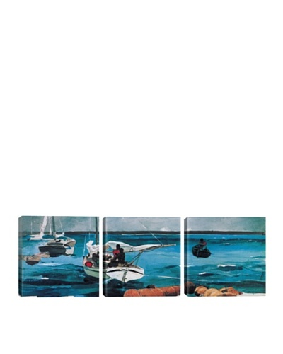 iCanvasArt Winslow Homer: Nassau Panoramic Giclée Triptych