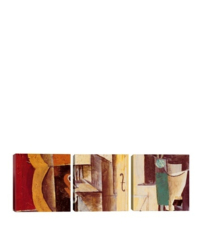 iCanvasArt Pablo Picasso: Violin and Guitar Panoramic Giclée Triptych