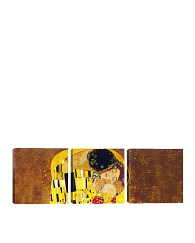 iCanvasArt Gustav Klimt: The Kiss Panoramic Giclée Triptych