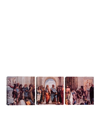 iCanvasArt Raphael: School of Athens Panoramic Giclée Triptych