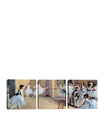 iCanvasArt Edgar Degas: The Dance Foyer At The Opera Panoramic Giclée Triptych