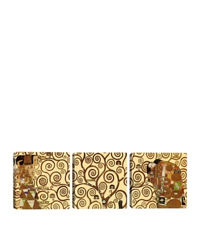 iCanvasArt Gustav Klimt: The Tree of Life Panoramic Giclée Triptych