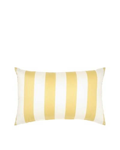 "Image by Charlie Kenya Decorative Pillow, Spectra Yellow/Off-White, 12"" x 20"""