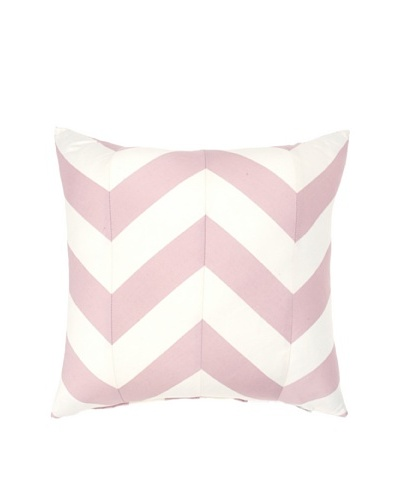 Image By Charlie Taupe Decorative Pillow, Peachskin/Off-White, 17 x 17