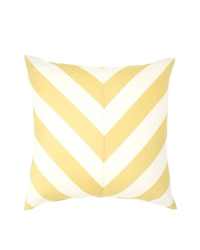 "Image by Charlie Kenya Decorative Pillow, Spectra Yellow/Off-White, 20"" x 20"""