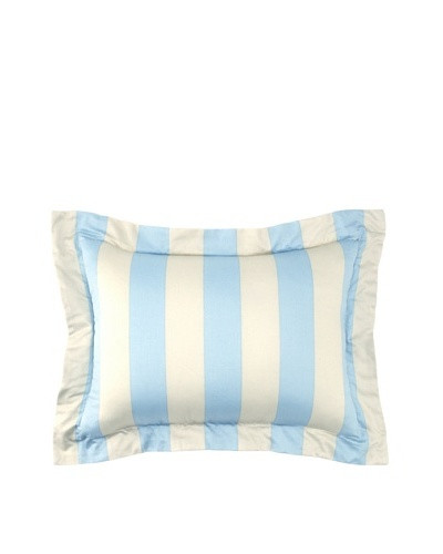 "Image By Charlie Azure Decorative Pillow, Aqua/Off-White, 13"" x 18"""